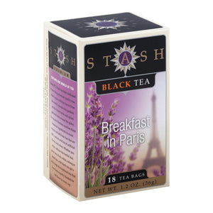 Stash Tea Black Tea - Breakfast In Paris - Case Of 6 - 18 Bags