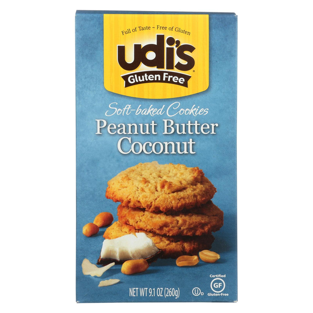 Udi's Cookies - Coconut Peanut Butter - Case Of 6 - 9.1 Oz.