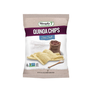 Simply 7 Quinoa Chips - Seasalt - Case Of 24 - 0.8 Oz.