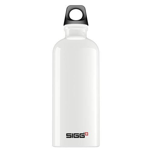 Sigg Water Bottle - Traveller - White - Case Of 6 - .6 Liter