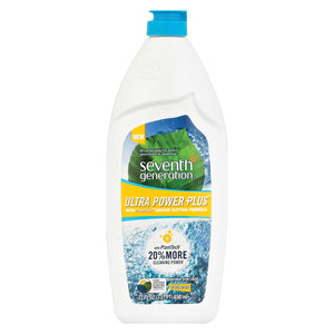 Seventh Generation Ultra Power Plus Natural Dish Liquid - Fresh Citrus - Case Of 12 - 22 Fl Oz.