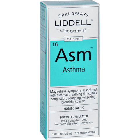 Liddell Homeopathic Asthma - Asm - Oral Spray - 1 Oz