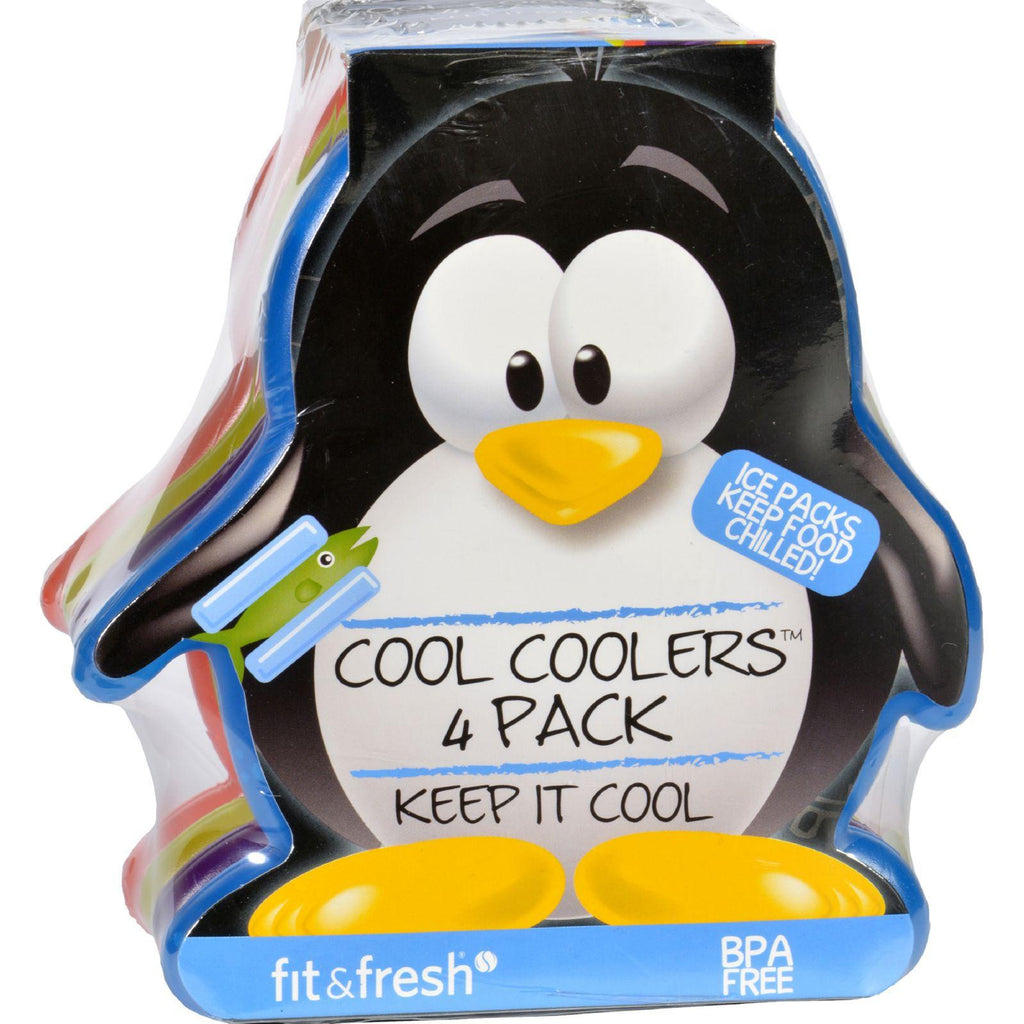 Fit And Fresh Ice Packs - Cool Coolers - Multicolored Penguin - 4 Count