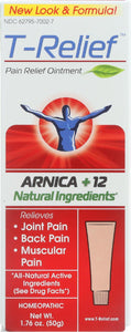 T-relief Pain Relief Ointment - Arnica Plus 12 Natural Ingredients - 1.76 Oz
