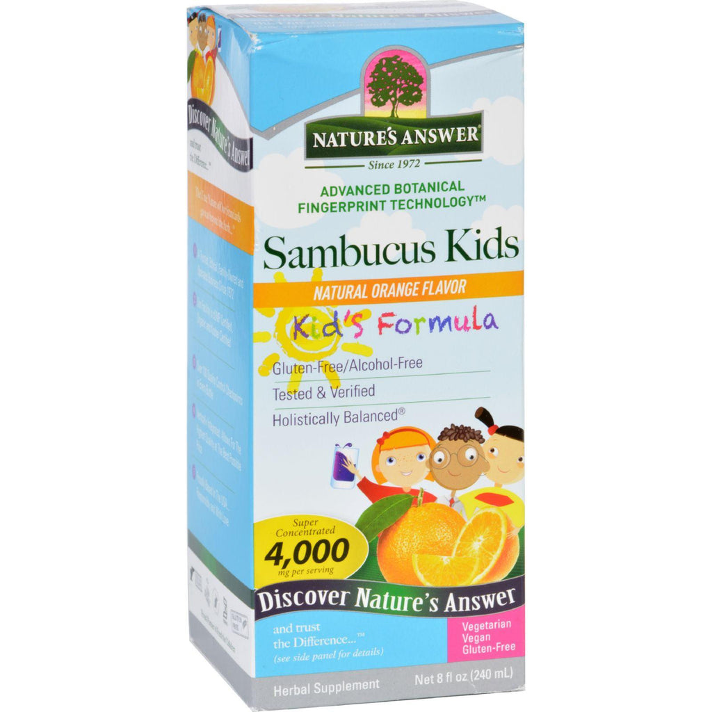 Natures Answer Sambucus - Kids Formula - Natural Orange Flavor - 8 Oz