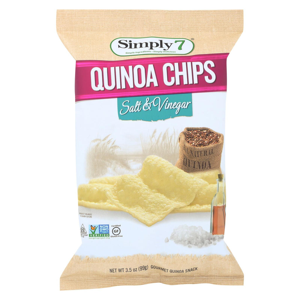 Simply 7 Quinoa Chips - Salt And Vinegar - Case Of 12 - 3.5 Oz.