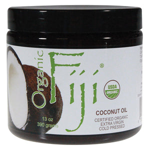 Organic Fiji Coconut Oil - Organic - Raw - Extra Virgin - 13 Oz