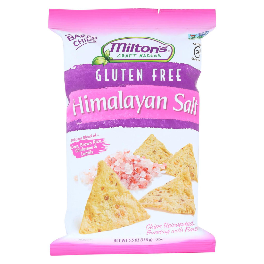 Miltons Gluten Free Baked Chips - Himalayan Salt - Case Of 12 - 5.5 Oz.
