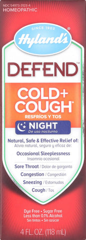 Hylands Homeopathic Defend - Cold And Cough - Case Of 1 - 4 Fl Oz.
