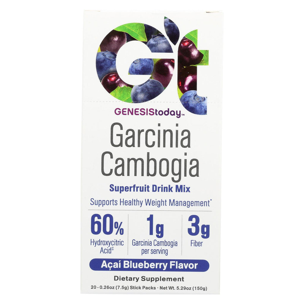 Genesis Today Cambogia Drink Mix - Aa Blueberry - Case Of 1 - 0.26 Oz.