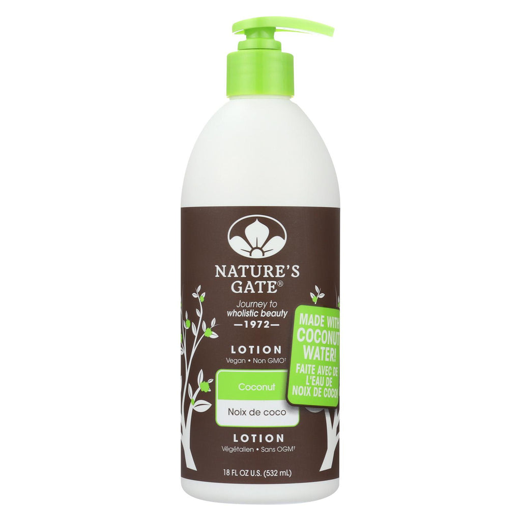 Nature's Gate Body Lotion - Coconut - Case Of 1 - 18 Fl Oz.