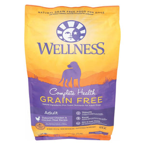 Wellness Pet Products Dog Food - Grain Free - Chicken Recipe - 12 Lb.
