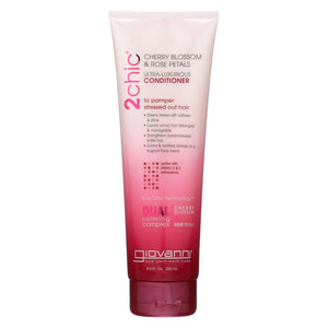 Giovanni Hair Care Products 2chic - Conditioner - Cherry Blossom And Rose Petals - 8.5 Fl Oz