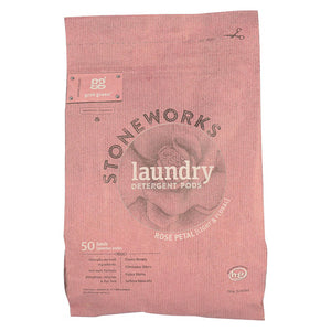 Stoneworks Laundry Detergent Pods - Rose - Case Of 6 - 50 Count