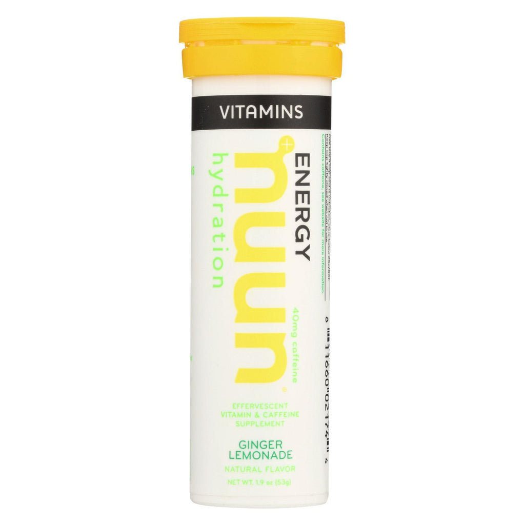 Nuun Hydration Drnk Tab - Ginger  Lemonade - Case Of 8 - 12 Tab