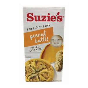Suzie's Filled Cookies - Peanut Butter - Case Of 12 - 5.29 Oz