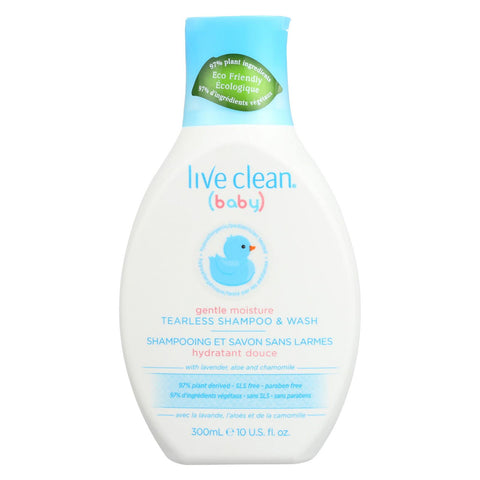 Live Clean Shampoo And Wash - Tearless - Baby - 10 Fl Oz
