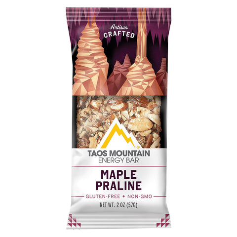 Taos Mountain Energy Bar Bar - Maple Praline - Case Of 12 - 2 Oz