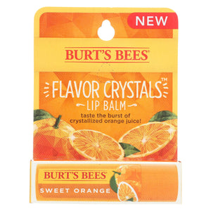 Burts Bees Lip Balm - Flavor Crystals - Sweet Orange - Case Of 6 - 0.16 Oz