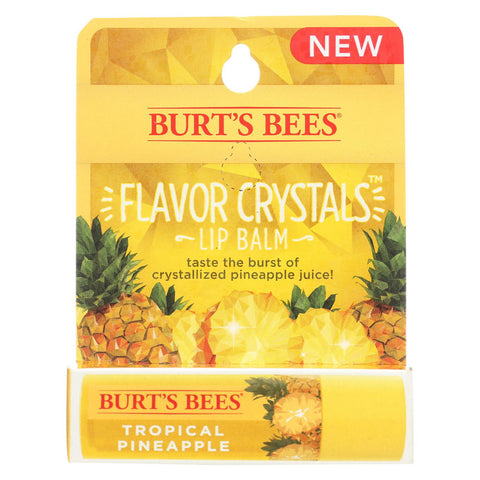 Burts Bees Lip Balm - Flavor Crystals - Tropical Pineapple - Case Of 6 - 0.16 Oz