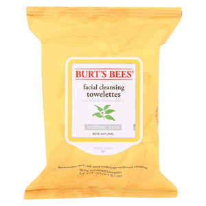 Burts Bees Face Towelette - White Tea - Case Of 3 - 30 Count