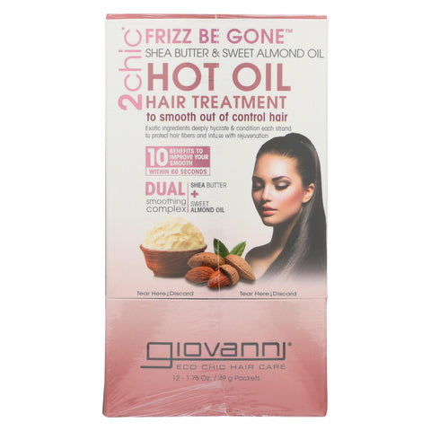 Giovanni Hair Care Products 2chic - Hot Oil - Shea Butter - Almond - Case Of 12 - 1.75 Fl Oz