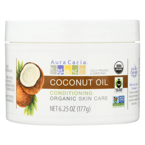 Aura Cacia Oil - Organic - Coconut - 6.25 Oz