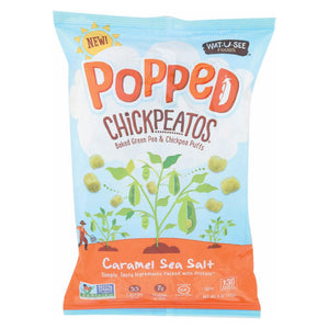 Watusee Foods Chickpeatos - Caramel Sea Salt - Case Of 8 - 4 Oz
