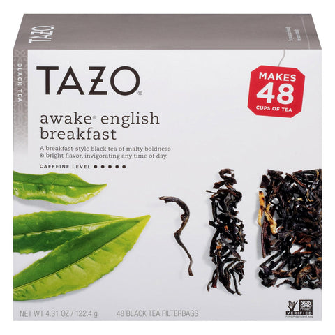 Tazo Tea Tea - Awake - Black - Filter Bag - Case Of 4 - 48 Bag