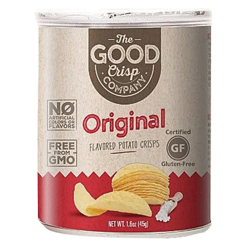 The Good Crisp Company Potato Crisps - Original - Case Of 12 - 1.6 Oz