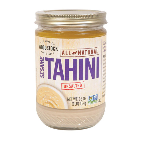 Woodstock Tahini - Unsalted - 16 Oz.