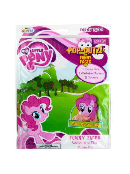 My Little Pony Pop-Outz! Funny Faces (Available in a pack of 24)