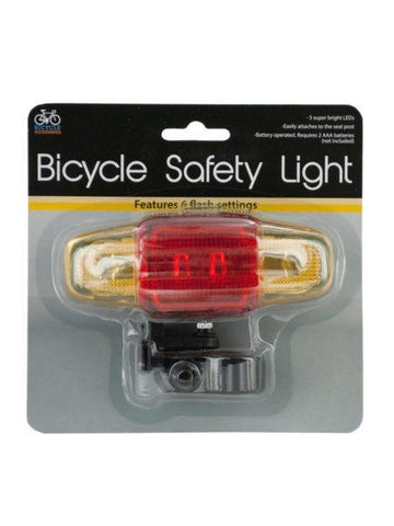 Flashing LED Bicycle Safety Light (Available in a pack of 12)