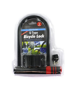 U-Type Bicycle Lock with Two Keys (Available in a pack of 1)