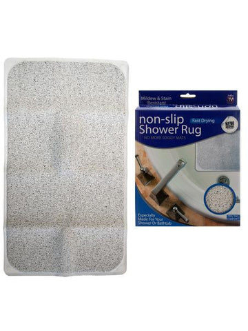 Fast Drying Non-Slip Shower Rug (Available in a pack of 1)
