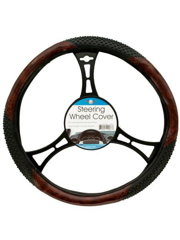 Textured Two-Tone Steering Wheel Cover (Available in a pack of 6)