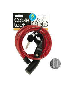 Self Coiling Bicycle Cable Lock with Two Keys (Available in a pack of 4)