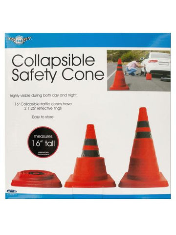 Collapsible Traffic Safety Cone with Reflective Rings (Available in a pack of 1)