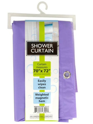 Shower Curtain with Weighted Magnetic Hem (Available in a pack of 6)