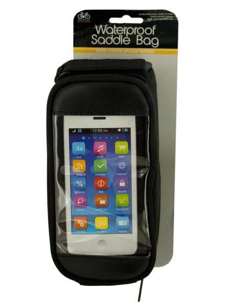 Bicycle Saddle Bag with Phone Holder (Available in a pack of 4)