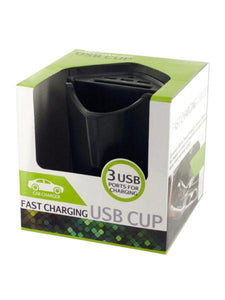 Fast Charging USB Car Storage Cup (Available in a pack of 2)