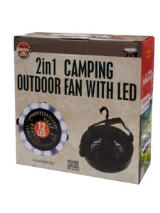 2 in 1 Camping Outdoor Fan with LED Light (Available in a pack of 1)