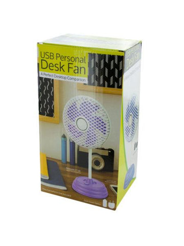 Classic Design USB Personal Desk Fan (Available in a pack of 2)