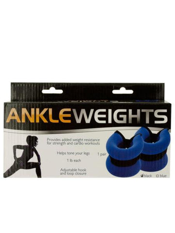 1 Pound Adjustable Ankle Weights (Available in a pack of 4)