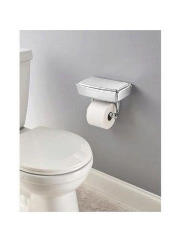Delta Porter Chrome Toilet Paper Holder with Storage Box (Available in a pack of 1)