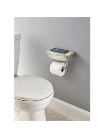 Delta Porter Brushed Nickel Toilet Paper Holder with Storage Box (Available in a pack of 1)