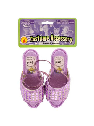 Small Dress & Dazzle Girls' Lavender Sequin Dot Shoes (Available in a pack of 20)