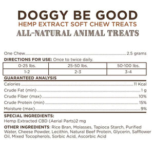 Doggy Be Good CBD Soft Chew Treats