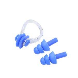 Soft Silicone Swimming Nose Clips + 2 Ear Plugs Diving Swim Waterproof