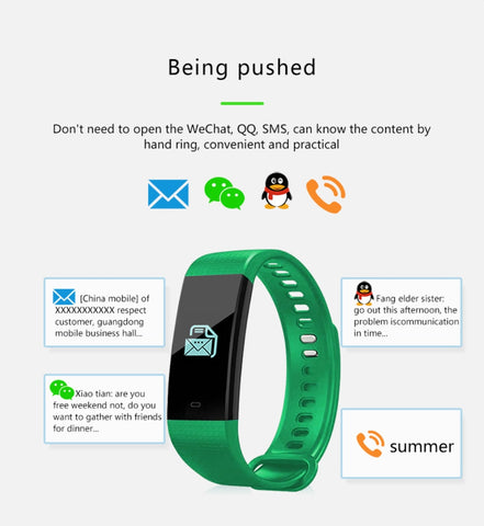 Image of Smart Blood Pressure Monitor Heart Rate Fitness Tracker Pedometer Running Step Counter Wrist Watch